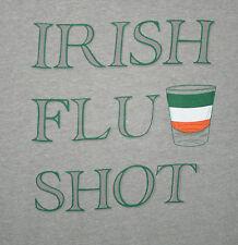 Irish Flu Shot St. Patricks Day Bar Drinking T-Shirt New Tags Size Lg Old Navy