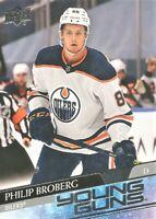 2020-21 UD Series 1 Young Guns #204 Philip Broberg Rookie Edmonton Oilers