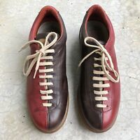 Camper Women's Shoes Leather Bowling Sneakers Lace up Bi-color Euro 40