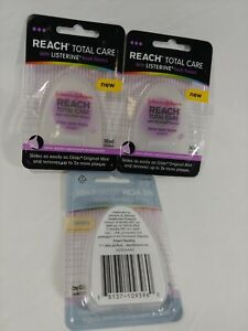 3 NEW REACH Total Care with LISTERINE Floss  Fresh Mint  30 Yards Micro-Grooves