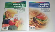 Weight Watchers FLEX & CORE Complete Food & Dining Out Companion Points Book Set
