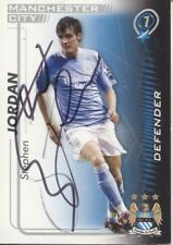 A Shoot Out card Stephen Jordan at Manchester City. Personally signed by him.