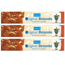 Nandita ORIGINAL BENZOIN Premium Incense Sticks - Pack of 3 (15 gm Each)