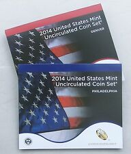 Stati UNITI US Mint UNCIRCULATED Coin Set 2014 d e p