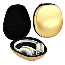 Carrying EVA Gold Case Protective Storage Portable Bag for Earphones Headphone