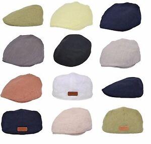 Lightweight Linen Summer Style Flat Cap 80%Linen 20%Cotton
