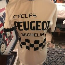 Peugeot Michelin Cycling Jersey Men's Size US S/M Short Sleeved Bike Shirt