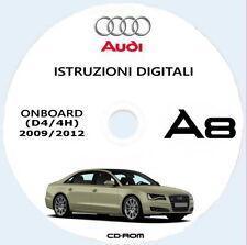 AUDI A8 e AUDI S8 (4H) uso manutenzione + MMI anno 2009/2012