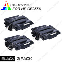 3PK CE255X Toner Cartridge For HP 55X Black LaserJet Pro 500 MFP M521DN M521DW