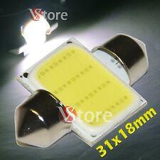 2 LED Siluro 31mm COB SMD 12 Chip BIANCO Lampade Luci Lampadine Interno Targa