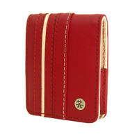 Crumpler Gofer Royale 55 Leather Compact Camera Case - Dark Red / White