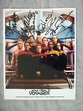 "STAR TREK VOYAGER-Signed/Autographed /9 Cast Members/Original 8"" x 10"" Photo"