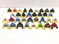 34 Nuovo Lego Figure Mini Maschio da Uomo Ragazzi Torso's / 34 Diverse Tipi