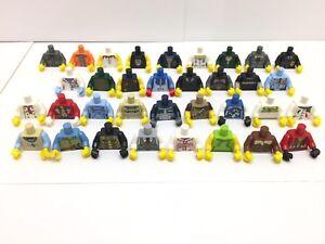 34 NEW LEGO Minifigure Male Mens Boys Torso's / 34 Different Types