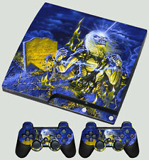 PLAYSTATION PS3 SLIM IRON MAIDEN Live After Death EDDIE UP THE IRONS SKIN New