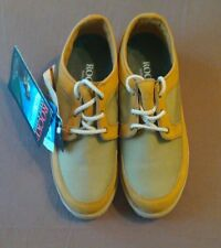 ROCKY RB3060 Men's Leather & Cambrelle Fabric Shoes, Tan, Size 8W, NEW With Tags