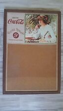 Vintage Drink Coca-Cola From Fountains Woman Drinking Coke Cork Bulletin Board