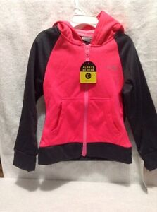 NWT Girls  Long Sleeve Winter Active Wear XS 4-5 Pink Black C9 By Champion