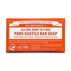 💚 Dr. Bronner Organic Tea Tree Pure-Castile Bar Soap 140g