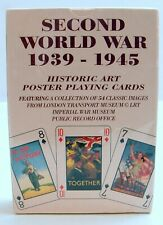 "British Heritage Ltd ""Second World War"" 1939 - 1945 Poster Playing Cards Sealed"