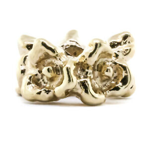 14k Yellow Gold Pandora Retired Ring Of Flowers Charm