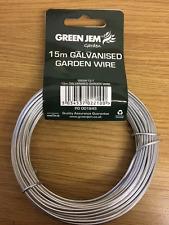 15 M Jardín De Alambre 1.6 mm Galvanizado Uso para atar la fijación de las plantas trepadoras y arbustos