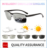 Mens Photochromic Sunglasses Polarized Transition Lens Outdoor Driving Glasses