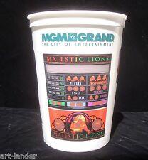 MGM GRAND CASINO Lion Cherries Plastic Coin Cup Bucket Chip Token Slot Las Vegas