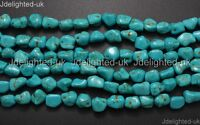 Blue Howlite Turquoise Gemstone 12mm Freeformed Nugget Loose Beads 16'' Strand