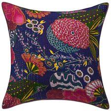 Handmade Kantha Cotton Cushion Cover Bohemian Pillowcase Living Room Throw