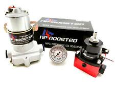 12V Universal Hi Flow Electric Fuel Pump Kit 140 GPH Regulator w/ Pressure Gauge