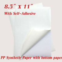 """8.5""""x11"""" Printable Stickers Shipping Labels Glossy PP Paper - Inkjet Printer"""