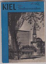 Kiel - Straßenverzeichnis von 1956 mit Beilagen Landkarte Dokument