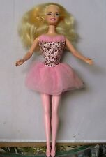 BARBIE BALLERINA DOLL PINK DRESS BALLERINA FEET