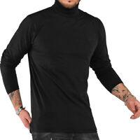 Herren Rollkragenpullover Rollkragen-Shirt Longsleeve Sweatshirt Pullover NEU
