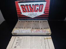 Vintage Early Milton Bradley BINGO Game w/ WOOD Pieces BOX & INSTRUCTIONS 100%
