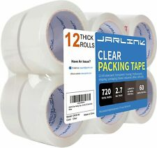 Jarlink Clear Packing Tape 12 Rolls Heavy Duty Packaging Tape New Freeship