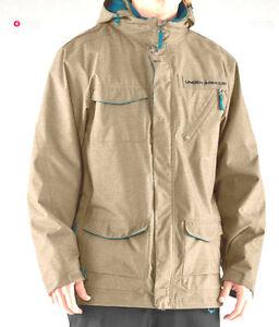 Under Armour Jakal Jacket Mens Snowboard Ski Waterproof L Beige $250