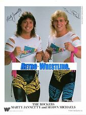 WWE PHOTO THE ROCKERS WWF PROMO WRESTLING 1988 SHAWN MICHAELS MARTY JANNETTY