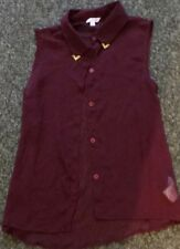 Miss Evie sleeveless button long top & cami top Age: 13 years