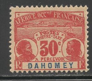 Dahomey #J5 (D1) VF MINT - 1906 30c Dahomey Natives / Postage Due