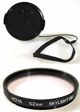 52MM FRONT SNAP-ON LENS CAP W/52MM SKY 1B FILTER