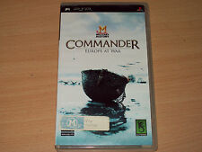 Military History Commander Europe At War (Sony PSP UMD, 2009) Good Condition