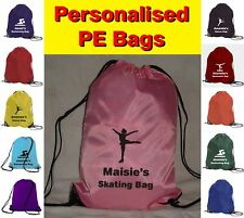 Personalised Ice Skating Logo PE Sports School Gym Bag