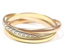 ♦♦ 18kt 750 Damen Gold Ring Goldring Gelbgold Rotgold Weißgold 3 in 1 dreifach ♦