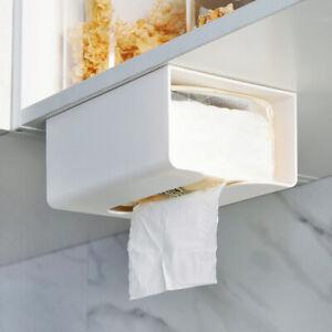 Wall Mount Tissue Box Kitchen Bathroom Napkin Toilet Paper Case Holder Storage