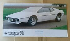 Prospekt Brochure Lotus Esprit 12/1976 englisch