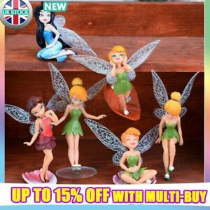 6Pcs Tinkerbell Fairies Princess Action Figures Doll Toy Kid Children xmas Gift