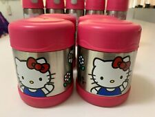 Two Thermos Funtainers 10 Oz Food Jars Hello Kitty Coffee Soup Bottle