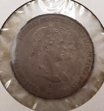 1854 AUSTRIA WEDDING GULDEN FRANZ JOSEPH/ELISABETH OF BAVARIA HIGH GRADE PIECE